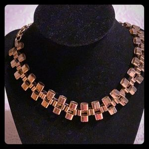 Vintage gold tone necklace chocker
